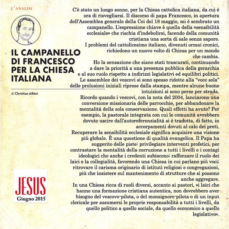 Jesus giugno 2015 editoriale